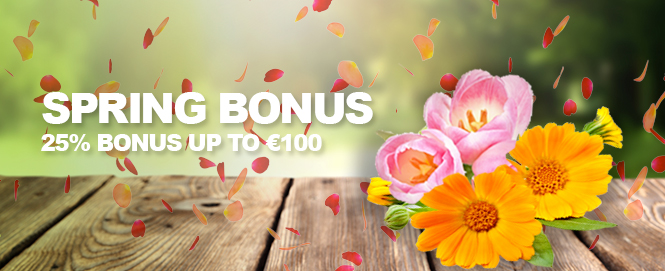 Alleen vandaag: lente bonus